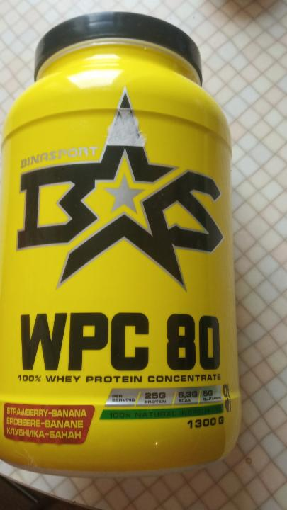 Фото - WPC 80, 100% whey protein concentrate Binasport