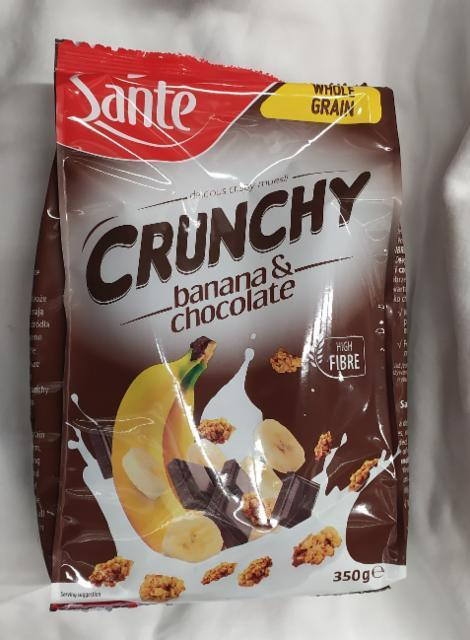 Фото - Sante Crunchy banana a chocolate шоколад и банан